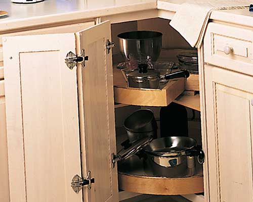 Simple Corner Cabinets With Super Susan